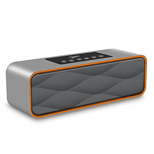 Portable Wireless Bluetooth Speaker FM Radio MP3 Player,XPLUS Portable Travel Wireless Stereo Strong Enhanced Bass Bluetooth Speaker Works with iPhone,iPad, Samsung,Nexus,HTC and More(Grey)