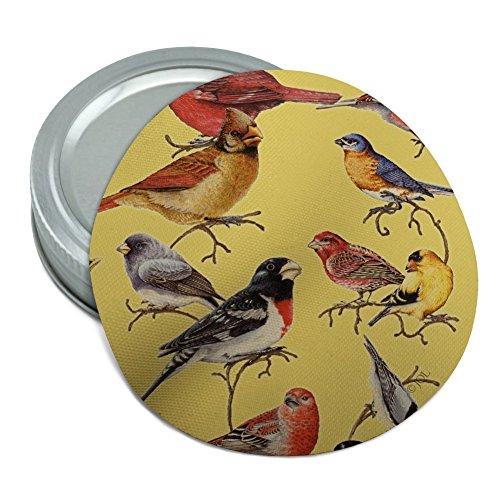 - Birds Songbirds Cardinal Finch Robin Round Rubber Non-Slip Jar Gripper Lid Opener