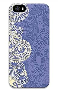 Blue And White Pattern Cover Case Skin for iPhone 5 5S Hard PC 3D