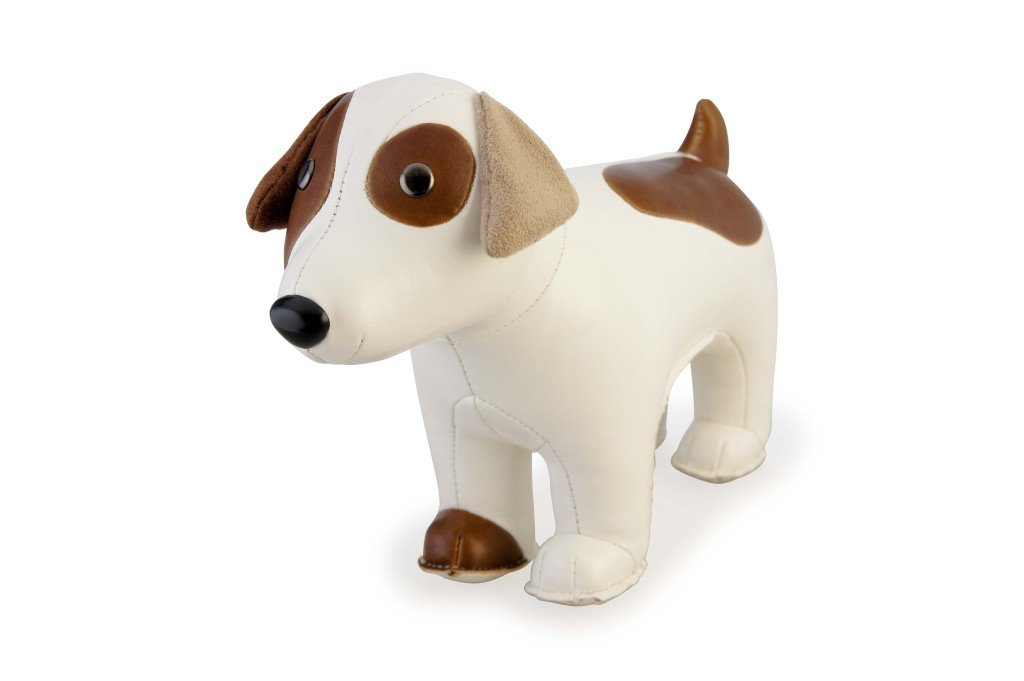 Zuny Classic Russell Terrier Animal Bookend - White