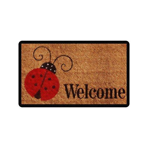 Ladybug Door Mat - Dick Sidney WELCOME Ladybug Pattern Funny Design Indoor/Outdoor Doormat inch Non-Slip Machine-washable Home Decor Mat