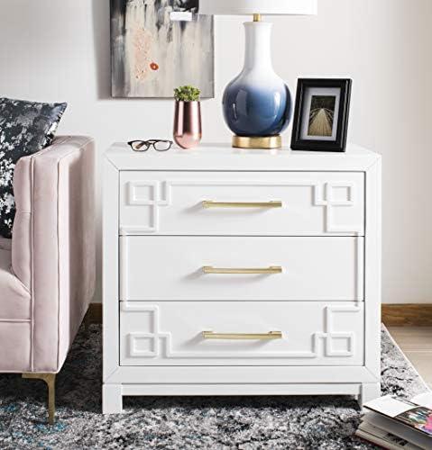 Safavieh Home Raina White and Gold 3-drawer Chest