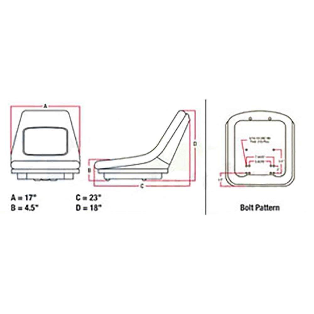 Amazon.com: Kubota Compact Tractor Deluxe High Back Seat 35080-18400,  K2570-56110, K2571-56110, 32420-72960, 32420-72962, 32701-52502,  6C070-88720, ...