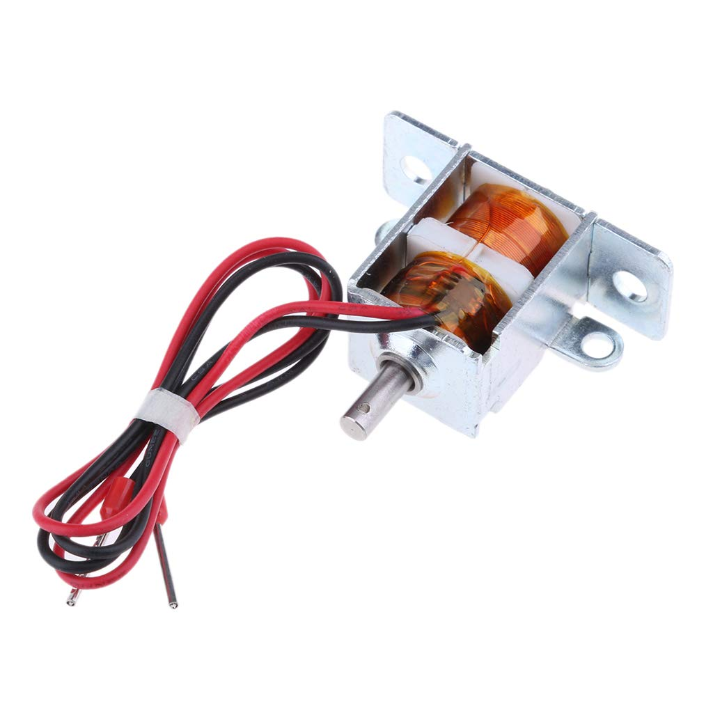perfk DC12V 1.2A Mini Small Electric Bolt Magnetic Solenoid Lock Push-Pull Cabinet Door Locks