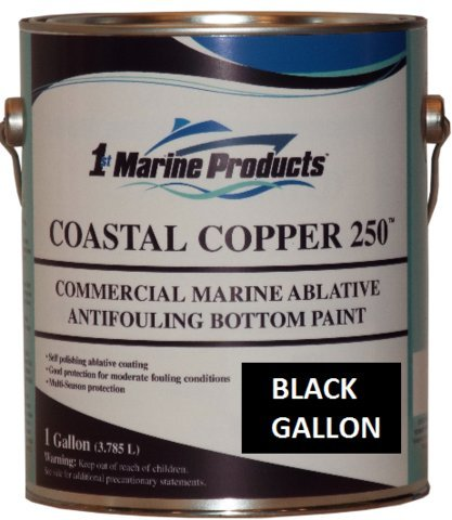 Copper 250 Ablative Antifouling Bottom Paint BLACK GALLON ()