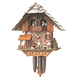 Black Forest VDS Certified 1 Day Musical Cuckoo Clock with Beer Drinkers by Rombach and Haas (Extra 20% Off Sale Price - Code romba20)