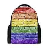 imobaby Personalized Brick Wall Rampart Backpack Daypack Book Bag School Bags for Boys Girls