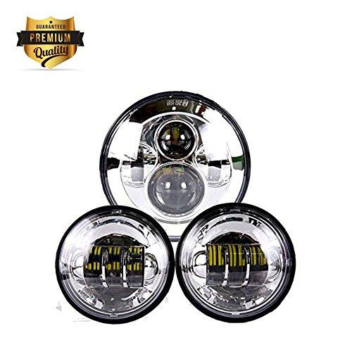 7 Inch 45w Harley Daymaker LED Projector Headlight Hi/Lo Beam + 2Pcs 4.5