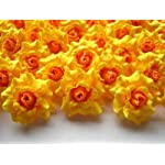100-Silk-Yellow-Roses-Flower-Head-175-Artificial-Flowers-Heads-Fabric-Floral-Supplies-Wholesale-Lot-for-Wedding-Flowers-Accessories-Make-Bridal-Hair-Clips-Headbands-Dress