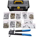 BOHENG Woodworking Tools, Manual Rivet Nut Holster, Heavy Duty Rivet Kit, 1200pcs Nut Gun Set, Manual Rivet Gun, Threaded Nut Fastener