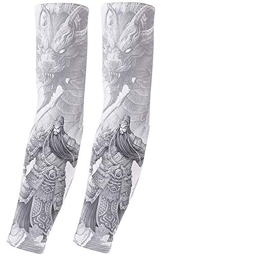 - Ice silk sunscreen sleeve outdoor riding flower arm tattoo tattoo men and women arm sleeves fishing sleeve 1,9,45-65kg