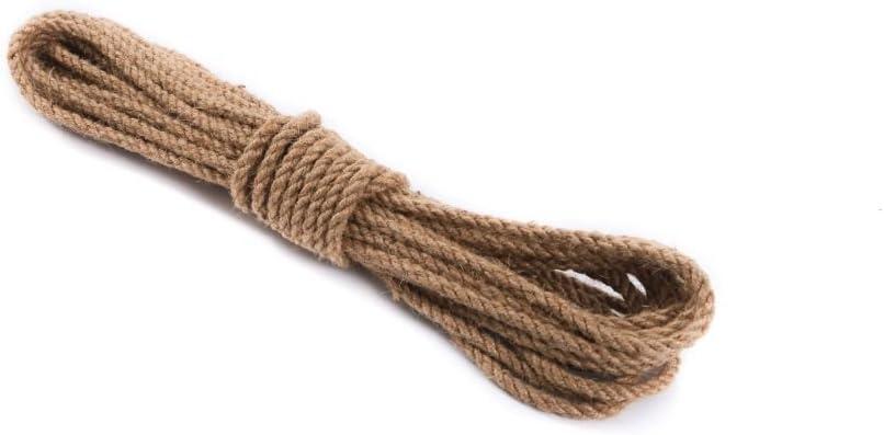 St/ärke: 16 mm, 15 Meter Juteseil Hanfseil Naturhanf Hanf Tau Tauwerk Handlauf Seil alle St/ärken