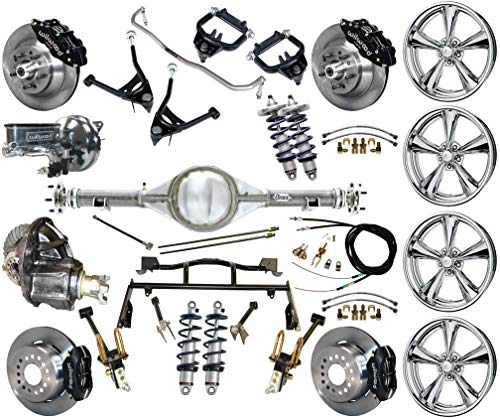 R & 4-LINK SYSTEM, WITH CURRIE REAR END,BILLET SPECIALTIES WHEELS,CONTROL ARMS,FRONT SWAY BAR & WILWOOD DISC BRAKE KIT,13