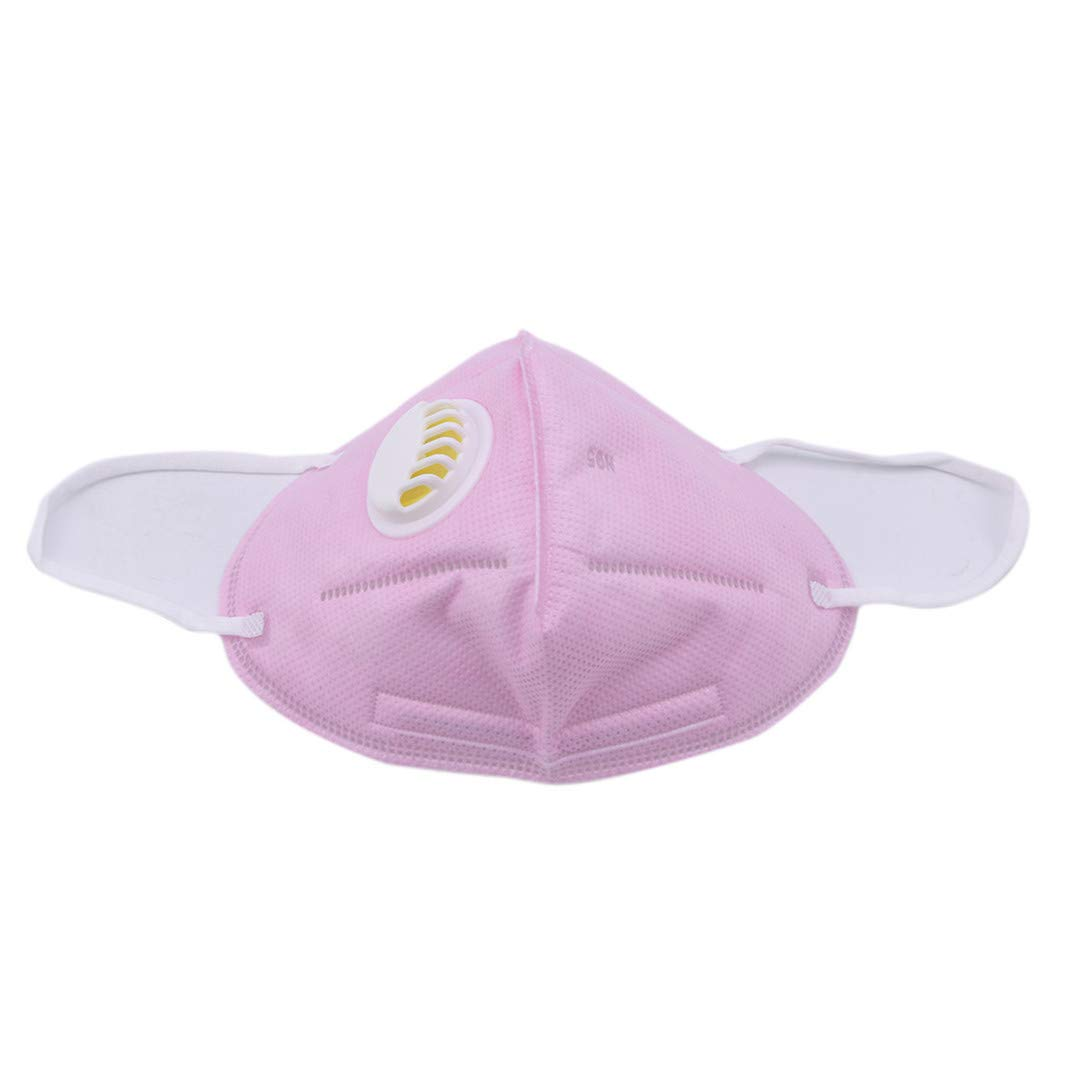YouCY Puppy Small Flower Dust Mask Respirator Mask Breathable Mask with Breathing Valve Winter Warm Breathable Mask for Women Boy Girl Men,Pure Powder
