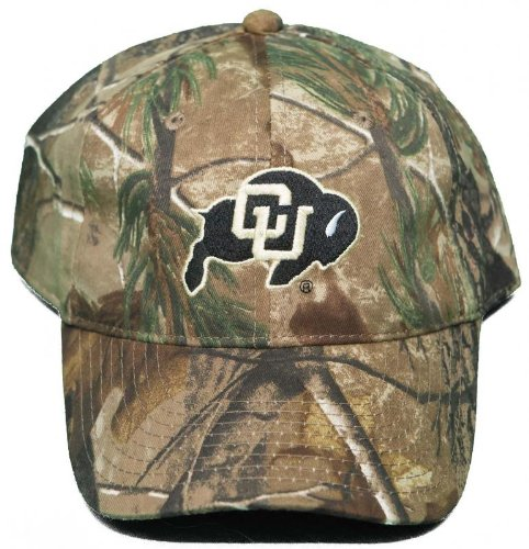 - NCAA Signatures NEW! University of Colorado Buffaloes Buckle Back Hat Embroidered Mothwing Camo Cap