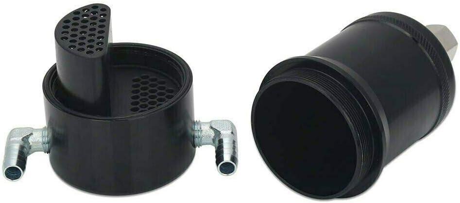 Compatible with 2011-2017 F-150 EcoBoost Explorer Billet Oil Catch Can Tank 5.0L Black