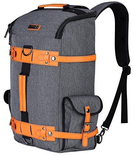 Nylon Rucksack (WITZMAN Large Travel Backpack Water Resistant Nylon Rucksack Casual Daypack 6685 (One Size, Grey))