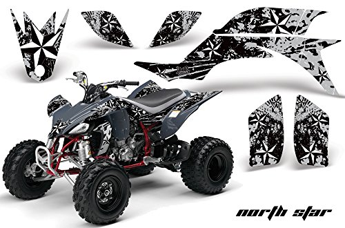 2013 ATV All Terrain Vehicle AMR Racing Graphic Kit Decal NORTHSTAR SILVER (Yamaha Atv Graphics Kit)
