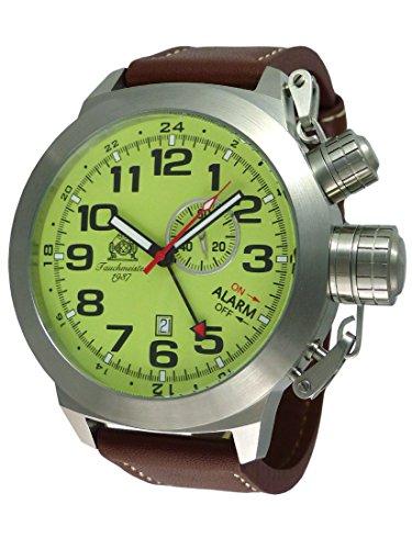 Swiss Gmt Alarm - Super Size 53mm Swiss quartz movement with Alarm GMT Date function T0306