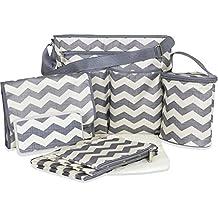 Tender Kisses 8 Piece Chevron Super Set Diaper Bag
