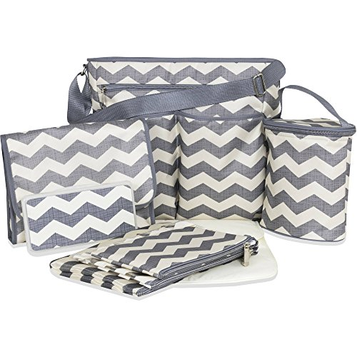 Diaper Dash - Tender Kisses 8 Piece Chevron Super Set Diaper Bag