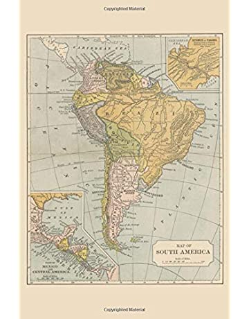 South America Travel Notebook: South America Cartography Map Portable 4x6 Brazil Argentina Journal 100+