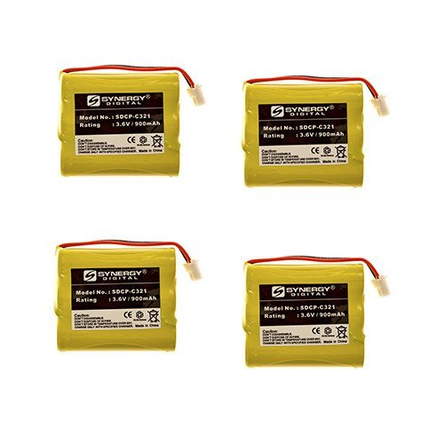 IBM IBM-2.4GIG Cordless Phone Battery Combo-Pack Includes: 4 x SDCP-C321 Batteries