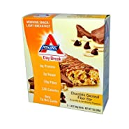 Atkins Day Break Chocolate Oatmeal Fiber Morning Snack Bar,1.4 Ounce, 5 Count Bars(Pack of 2)