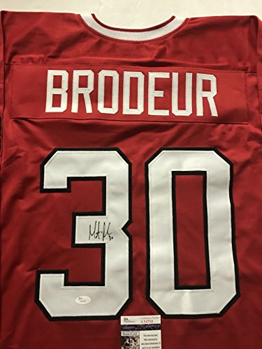 artin Marty Brodeur Team Canada Olympics Red Hockey Jersey JSA COA ()
