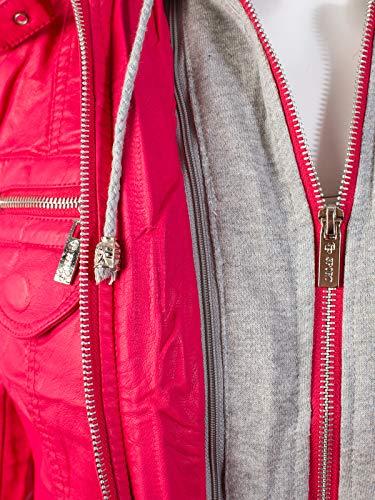 bfbbd26704c Instar Mode Women s Faux Leather Suede Zip Up Moto Biker Jacket Coat ...