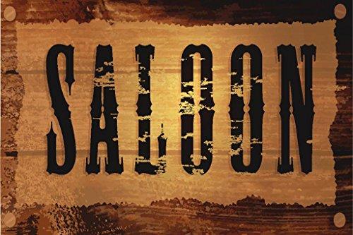Wild West Saloon Vintage Sign Art Print Poster 36x24 -