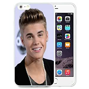 Unique and Attractive TPU Cell Phone Case Design with Justin Bieber 2013 iPhone 6 plus 4.7 inch Wallpaper in White