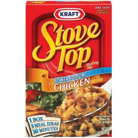 Stove Top Lower Sodium Chicken Stuffing Mix (Pack of 3) 6 oz Boxes (Stove Top Stuffing Mix)