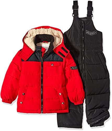 Diesel Boys' Bubble Jacket with Insulated Bib Overall Pant