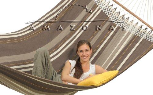 Große Stabhängemattenset Palacio Cafe von Amazonas bis 200 kg mit Gestell Olymp
