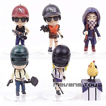 Battlegrounds Q Version Mini Pubg Playerunknowns Pvc Action Figures Toys Car Decoration Dolls Pcs Set
