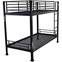 Black Bunk Bed - 3ft single metal bunkbed - Can be used by adults - VERY STRONG by Strictly Beds