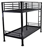 Black Bunk Bed - 3ft single metal bunkbed - Can be used by adults - VERY STRONG
