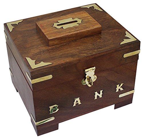 Christmas gifts wooden money bank coin handmade money box for Handmade coin bank