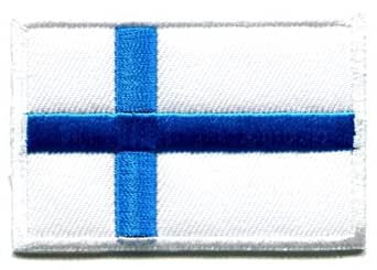 Amazon.com: Flag Of Finland Finnish Applique Iron-On Patch: Clothing