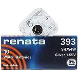renata 393 SR754W 1PACK X (10PCS) Silver 1.55V バッテリーはスイス製ウォッチ [並行輸入品]