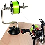 SLMOZKA Fishing Line Spooler Silver Reel Winder Spool Tackle Winder spooling Station Winding System Ultimate Line (A-with Suction Cup)