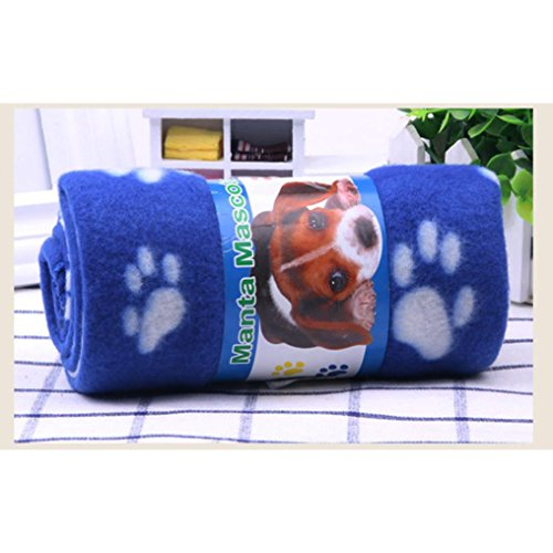 Fleece Flannel Super Soft Pet Blankets for Dog Puppy & Cats Bed Warm Sleep Mat Fabric Indoors Outdoors (S, Blue) by Srogem Pet Accessories (Image #1)
