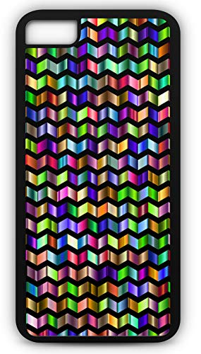 iPhone 7 Case Decorative Ornamental Pattern Stained Glass Look Customizable by TYD Designs in Black Plastic Black Rubber Tough -