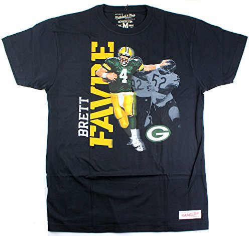 - Brett Favre Green Bay Packers #4 Men's Photo Real Traditional T-Shirt (Medium)