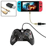 FastSnail Controller Converter for Nintendo Switch, Makes PS3/PS4 Dualshock/XBOX 360/XBOX ONE Controllers Compatible with Your Nintendo Switch, Support Vibration, with Type-C OTG Cable