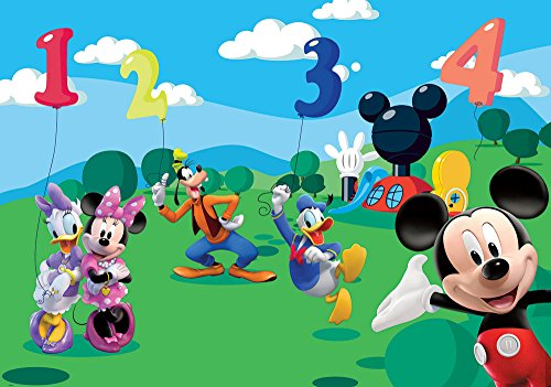 Disney Mickey Friends Numbers Wallpaper