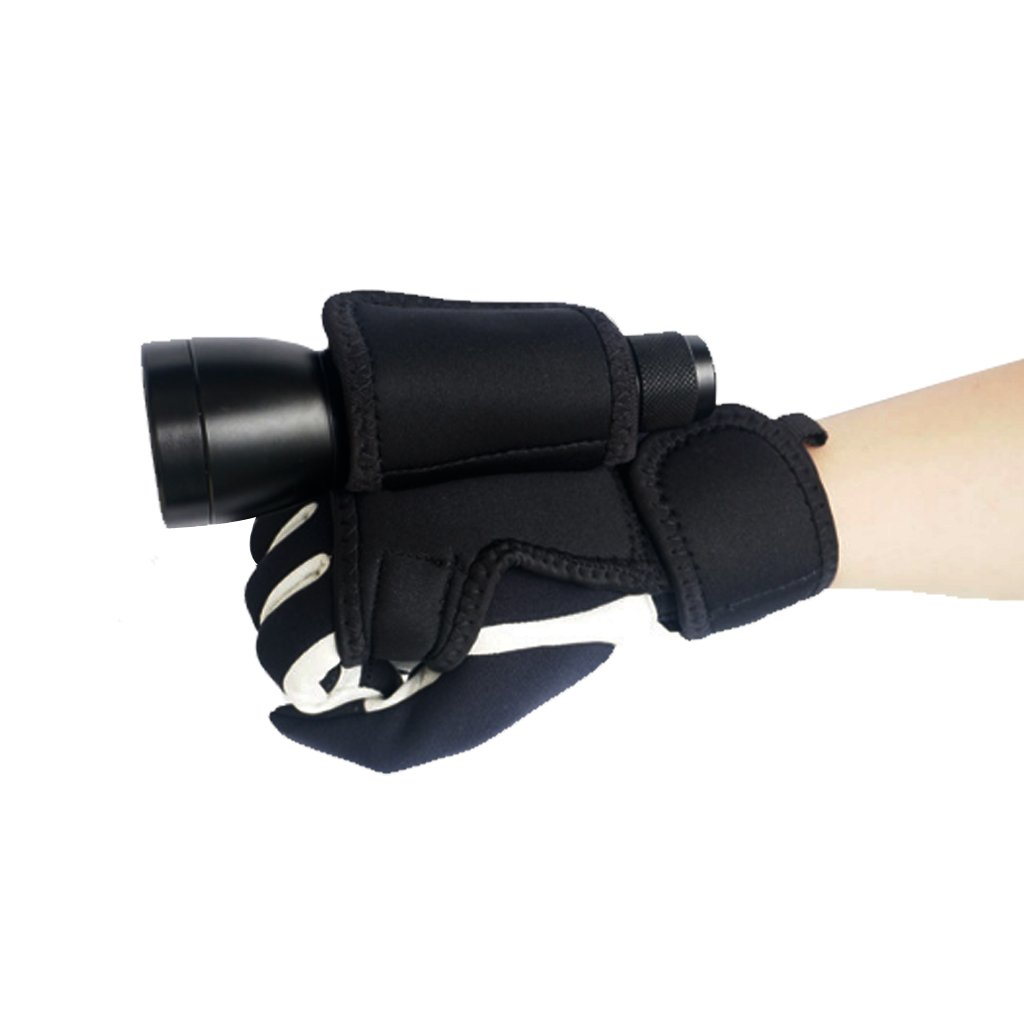 MonkeyJack Adjustable Scuba Diving Underwater LED Torch Flashlight Hand Free Light Carrying Glove