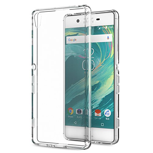 Sony Xperia XA Case, MoKo Shock Absorbing TPU Bumper Slim Clear Protective Case with Anti-Scratch Hard Back Cover for Sony Xperia XA 5.0 Inch (2016) - Crystal Clear