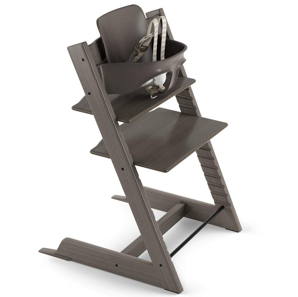Stokke Tripp Trapp Adjustable Wooden High Chair Chair Only, Aqua Blue Chair Only
